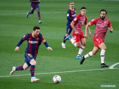 La Liga : ग्रेनाडा से 1-2 से हारी बार्सिलोना