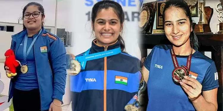 भारतीय महिलाओं ने 25 मीटर टीम स्पर्धा में स्वर्ण जीता, Manu Bhaker के लिए चौथा स्वर्ण