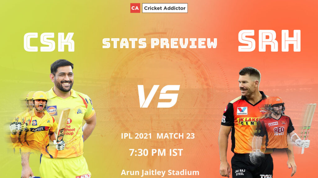 आईपीएल 2021, मैच 23: सीएसके बनाम एसआरएच - सीएसके प्लेइंग इलेवन