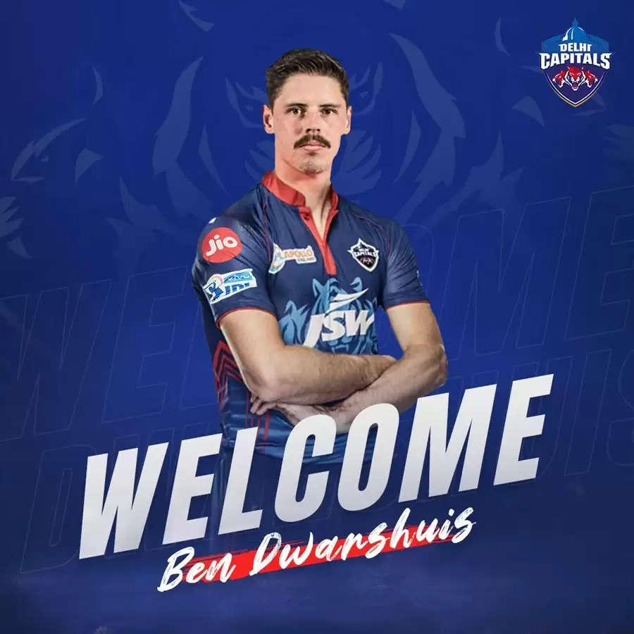 आईपीएल 2021: क्रिस वोक्स की जगह बेन द्वारशुइस को दिल्ली कैपिटल्स की टीम में शामिल किया गया है