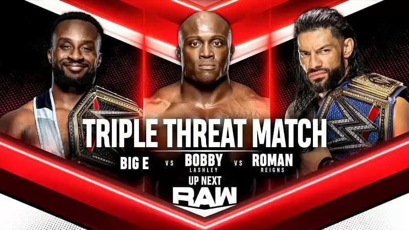 WWE रॉ पर रोमन रेंस बनाम बॉबी लैश्ले बनाम बिग ई पर बैकस्टेज विवरण - रिपोर्ट