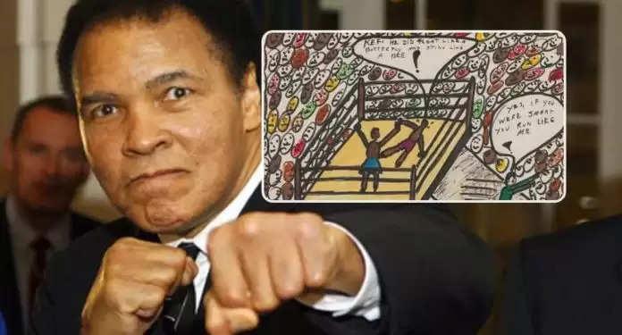बॉक्सिंग की दुनिया के दिग्गज रहे Muhammad Ali का स्केच न्यूयॉर्क ऑक्शन में 3 करोड़ 17 लाख रुपये में बिका