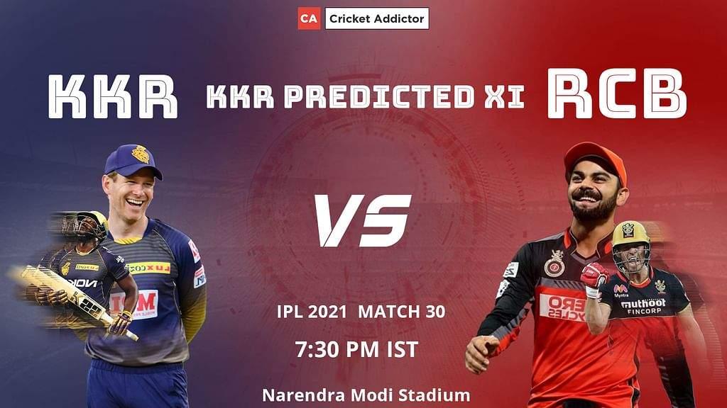 आईपीएल 2021, मैच 30: केकेआर बनाम आरसीबी - केकेआर पूर्व निर्धारित प्लेइंग इलेवन