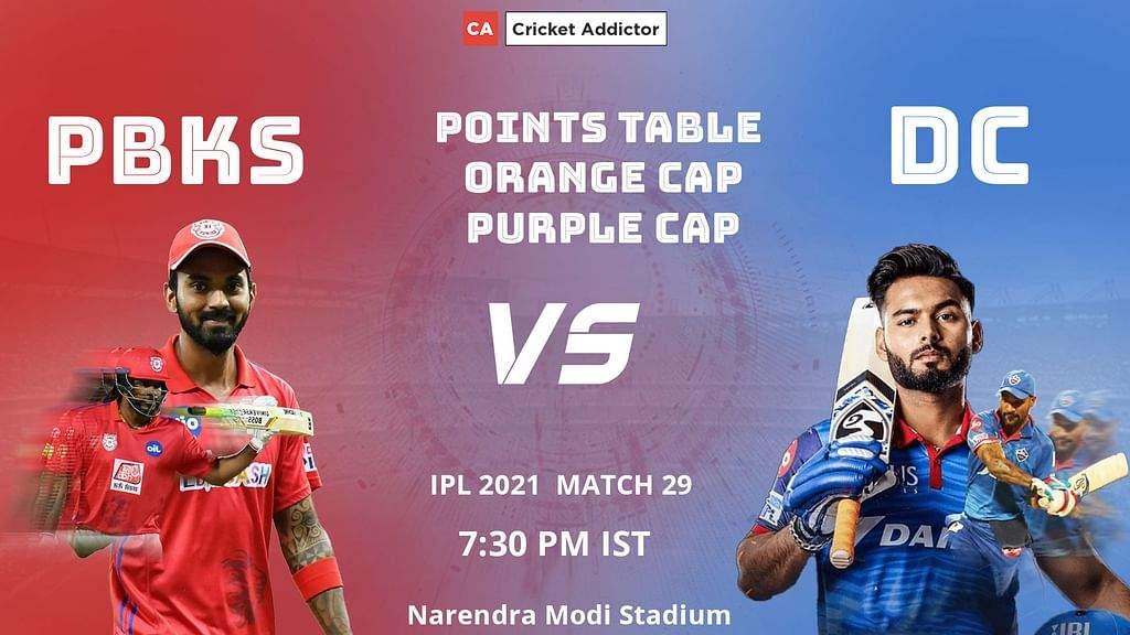 IPL 2021: अपडेटेड पॉइंट्स टेबल, ऑरेंज कैप, पर्पल कैप - मैच 29 के बाद